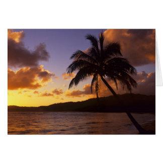 USA, Hawaii, Kauai, Colorful sunrise in a 2 Card