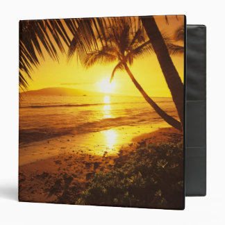 USA, Hawaii, Maui, Colorful sunset in a 2 3 Ring Binder