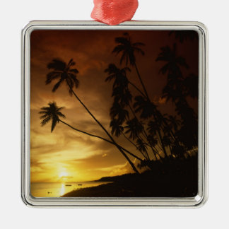 USA, Hawaii. Sunset on Molokai. Metal Ornament