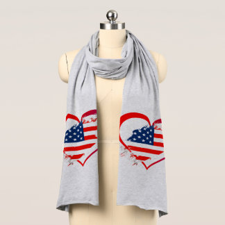 Usa heart scarf