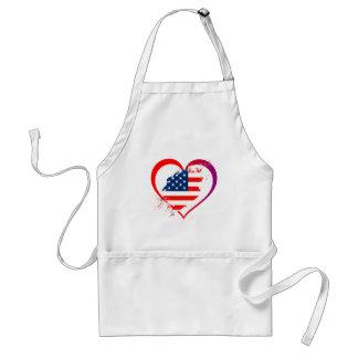 Usa heart standard apron