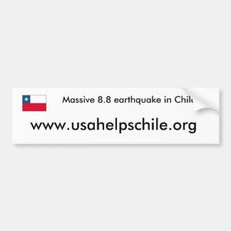 USA helps Chile Bumper Sticker