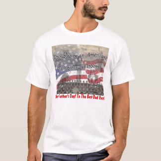 USA Heros God bless our troops with cross, vintage T-Shirt
