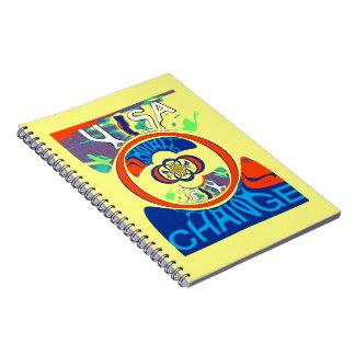 USA Hillary Beautiful Change Pattern Art design Note Books