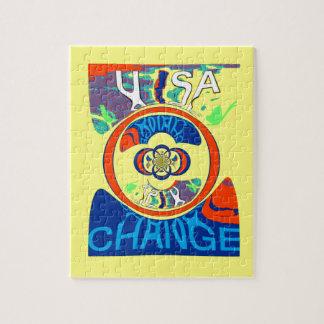 USA Hillary Beautiful Change Pattern Art design Puzzle