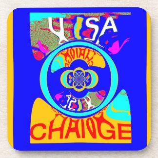USA Hillary Change Pattern Art design Drink Coaster