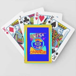 USA Hillary Change Pattern Art design Poker Deck