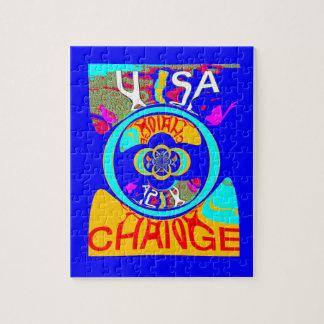 USA Hillary Change Pattern Art design Puzzle