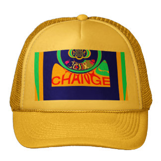 USA Hillary Change Pattern Art design Trucker Hat