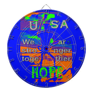 USA Hillary Hope We Are Stronger Together Dart Boards