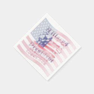 USA Hillary national flag country art design Disposable Napkins