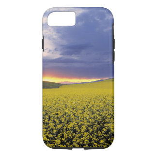 USA, Idaho, Swan Valley. A fiery sunset erupts iPhone 7 Case