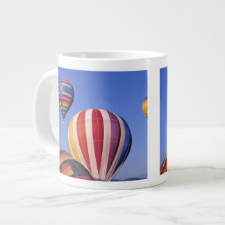 USA, Idaho, Teton Valley. Colorful hot-air Large Coffee Mug