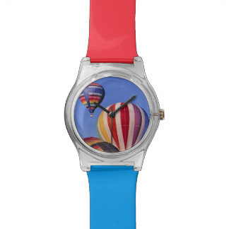 USA, Idaho, Teton Valley. Colorful hot-air Wristwatch