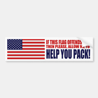 USA If This Flag Offends You Bumper Sticker