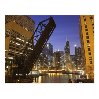 USA, Illinois, Chicago, Chicago River Post Cards