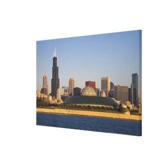 USA, Illinois, Chicago, City skyline with Adler Gallery Wrap Canvas