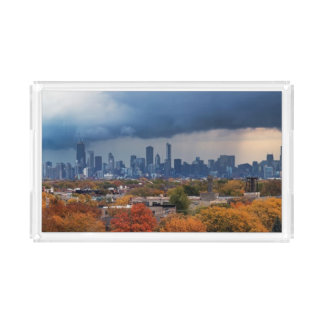 USA, Illinois, Chicago, cityscape Acrylic Tray