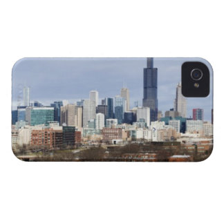 USA, Illinois, Chicago skyline 2 iPhone 4 Cover