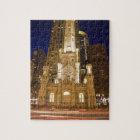 USA, Illinois, Chicago, Water Tower illuminated Jigsaw Puzzle