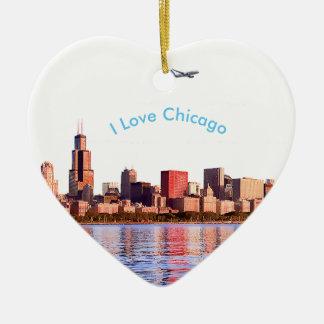 USA image for Ceramic Decoration Ceramic Heart Ornament