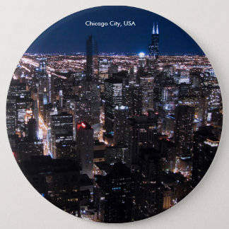 USA Image for Colossal Round Badge, 6 Inch Round Button