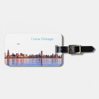 USA image for Luggage Tag w/ leather strap