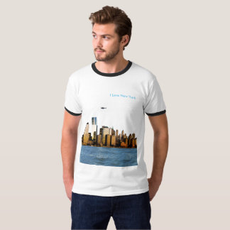 USA image for Men's-T-Shirt-White-Black T-Shirt