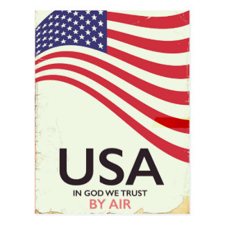 "USA ""In god we Trust"" vintage poster Postcard"