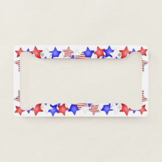 USA Independence Day Patriotic Stars American License Plate Frame