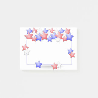 USA Independence Day Patriotic Stars American Post-it Notes