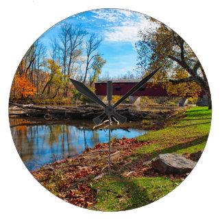 USA, Indiana, Cataract Falls State Recreation Large Clock