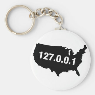 USA Is Home Programmer Basic Round Button Keychain