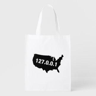 USA Is Home Programmer Reusable Grocery Bag