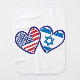 USA---Israel-Love-final Baby Burp Cloths