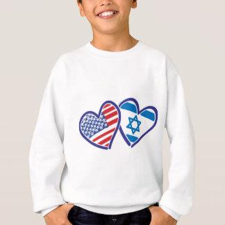 USA---Israel-Love-final Sweatshirt