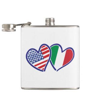 USA---Italy-Love Hip Flask
