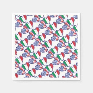 USA---Italy-Love Paper Napkin
