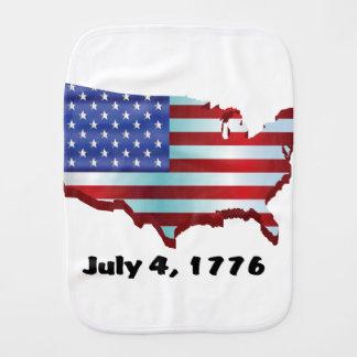 USA july 4 1776 Baby Burp Cloths
