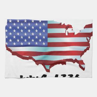 USA july 4 1776 Kitchen Towels