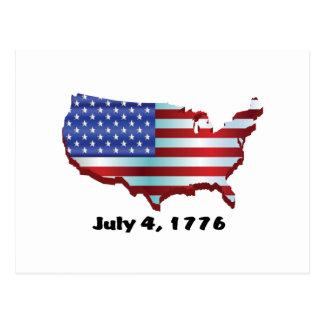 USA july 4 1776 Postcard