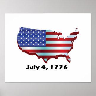 USA july 4 1776 Poster