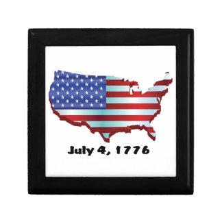 USA july 4 1776 Trinket Box