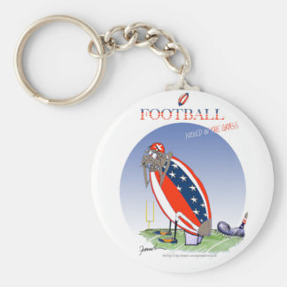 USA kicked in the grass, tony fernandes Basic Round Button Keychain
