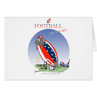 USA kicked in the grass, tony fernandes Card