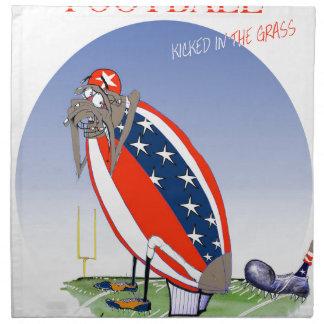USA kicked in the grass, tony fernandes Napkin