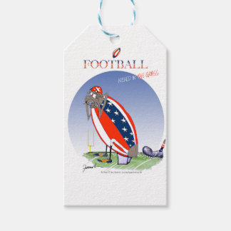 USA kicked in the grass, tony fernandes Pack Of Gift Tags