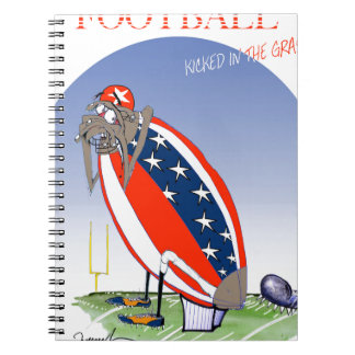 USA kicked in the grass, tony fernandes Spiral Notebook