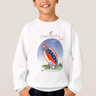 USA kicked in the grass, tony fernandes Sweatshirt