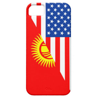 usa Kyrgyzstan country half flag america symbol Case For The iPhone 5